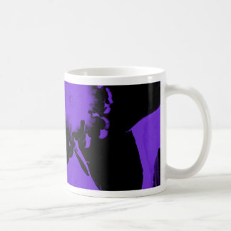 Purple and Black Daffodils Coffee Mug