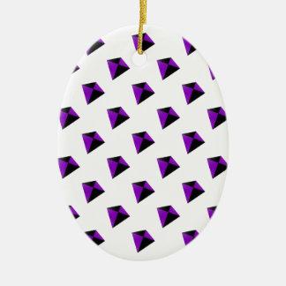 Purple and Black Diamond Shaped Kites Ceramic Oval Decoration