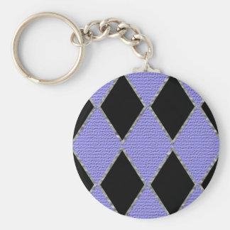 Purple and black diamond sparkle key chain