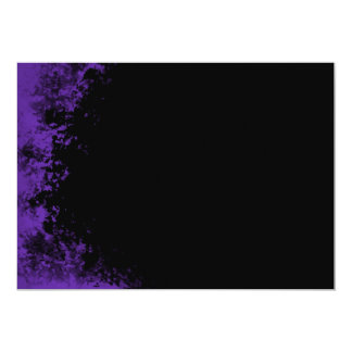 "Purple and Black Grunge Brush 2 Invitation 5"" X 7"" Invitation Card"