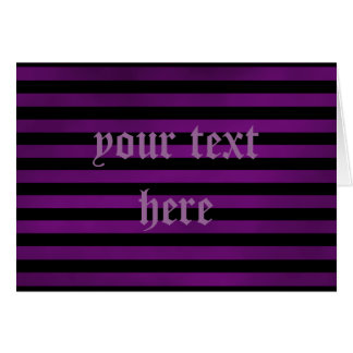 Purple and black grungy stripes gothic card
