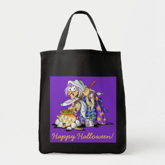 Purple And Black Halloween Treat Bags Purple Witch