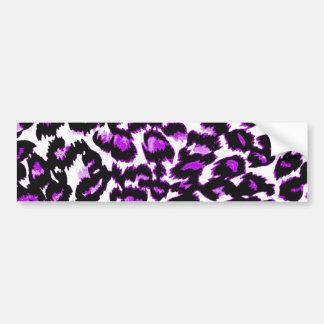 Purple and Black Leopard Print Bumper Sticker