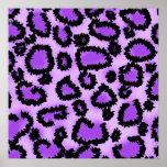 Purple and Black Leopard Print Pattern.