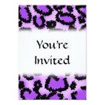 Purple and Black Leopard Print Pattern. Announcements