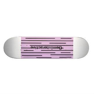 Purple and Black line SK8 Deck - Gem Interactive ! Custom Skate Board