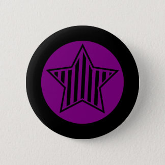 Purple and Black Star Button