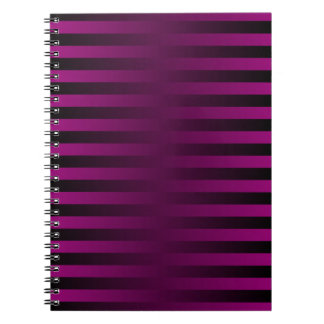 Purple and Black Striped Gradient Weave Notebook