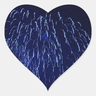 purple and black subtle fireworks display heart sticker