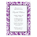 Purple and Black Swirl Damask Bridal Shower