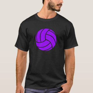 Purple and Black Volleyball Men's T-shirt
