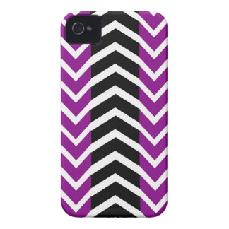 Purple and Black Whale Chevron Case-Mate iPhone 4 Cases