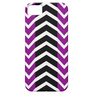 Purple and Black Whale Chevron iPhone 5 Covers