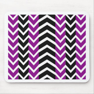 Purple and Black Whale Chevron Mouse Pad
