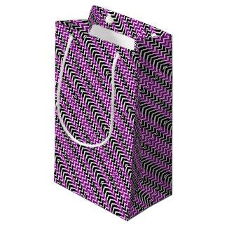 Purple and Black Whale Chevron Small Gift Bag