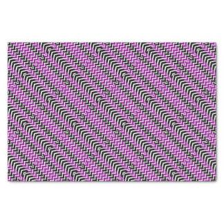 Purple and Black Whale Chevron Tissue Paper
