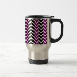 Purple and Black Whale Chevron Travel Mug