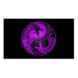 Purple and Black Yin Yang Dragons Business Card Templates