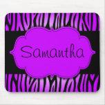 Purple and Black Zebra Personalised