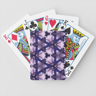 Purple and Blue Abstract Bicycle Playing Cards