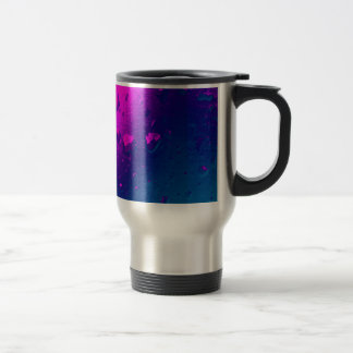Purple and Blue Abstract Design Travel Mug