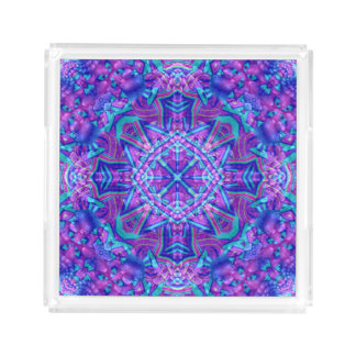 Purple And Blue Acrylic Trays, 2 shapes 4 sizes Acrylic Tray