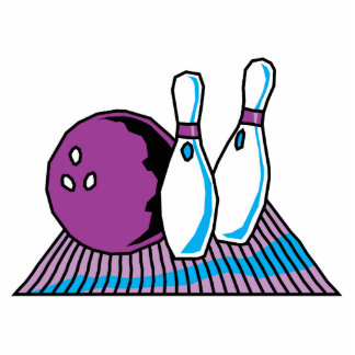 purple and blue bowling design cut out