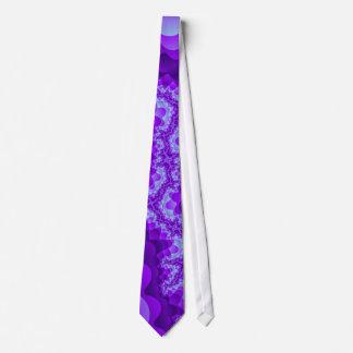 Purple And Blue Bubble Coral Fractal Design Tie
