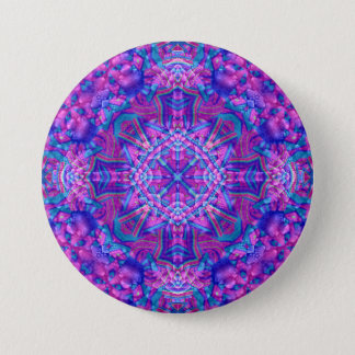 Purple And Blue Buttons, square or round 7.5 Cm Round Badge