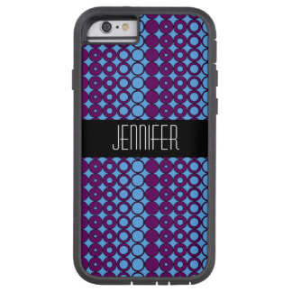 Purple and Blue Circle Pattern Tough Xtreme iPhone 6 Case