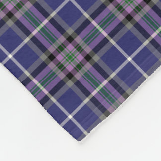 Purple and Blue Clan Alexander Tartan Fleece Blanket