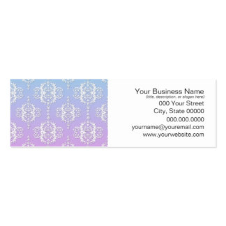 Purple and Blue Damask Pattern Pack Of Skinny Business Cards