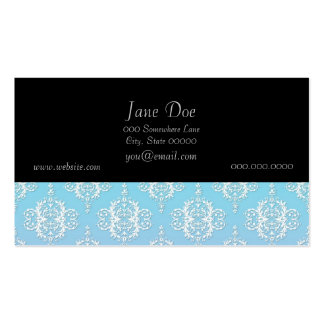 Purple and Blue Damask Pattern Pack Of Standard Business Cards