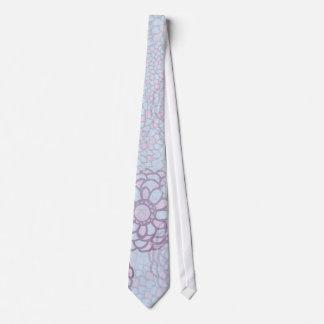 Purple and Blue Flower Burst Tie