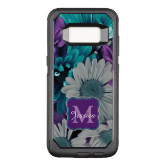 Purple and Blue Flower Smash OtterBox Commuter Samsung Galaxy S8 Case