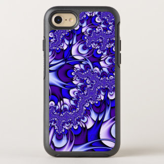 Purple and Blue Fractal OtterBox Symmetry iPhone 7 Case