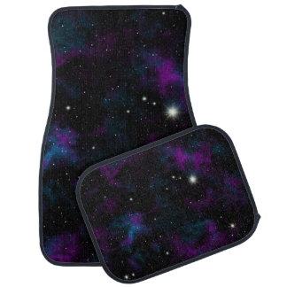 Purple and Blue Galaxy Car Mats