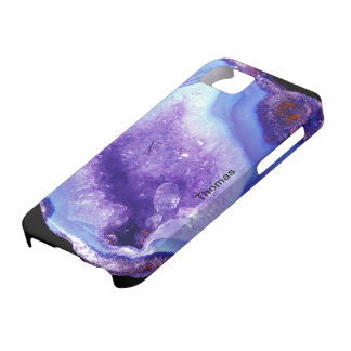 Purple And Blue Geode iPhone 5 Cases