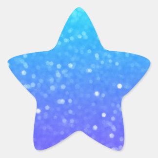 Purple And Blue Glitz Star Shaped Stickers