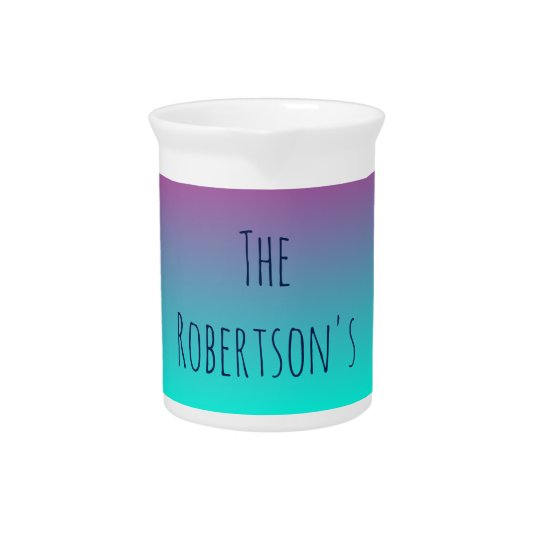 Purple and Blue Gradient Personalised Pitcher