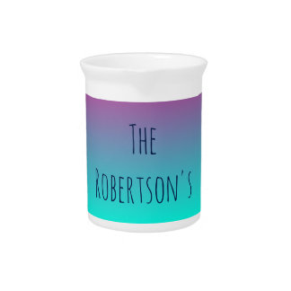 Purple and Blue Gradient Personalized Pitcher