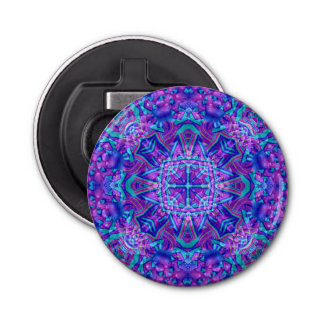 Purple And Blue Kaleidoscope Bottle Openers