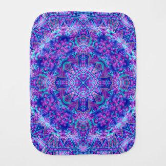 Purple And Blue Kaleidoscope Burp Cloth