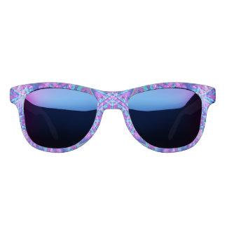 Purple And Blue Kaleidoscope Custom Sunglasses