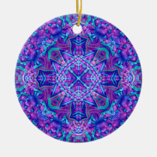 Purple And Blue Kaleidoscope Ornaments 6 shapes
