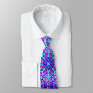 Purple And Blue Kaleidoscope Tie