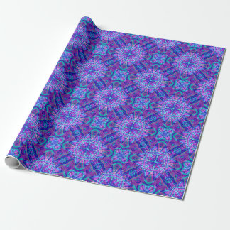 Purple And Blue Kaleidoscope  Wrapping Paper