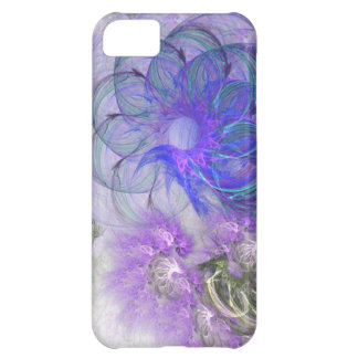 Purple and Blue Lacy Abstract Flower Design iPhone 5C Case
