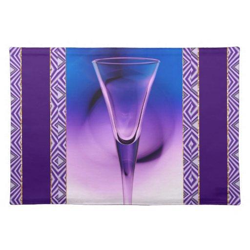 Purple And Blue Liqueur Glass Placemat