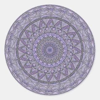 Purple and Blue Mandala Round Sticker